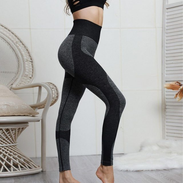 Leggings Sport Fitness Women Push Up Sport Yoga Pants High Waist Seamless Leggings Compression Tights Gym Training Running Pants