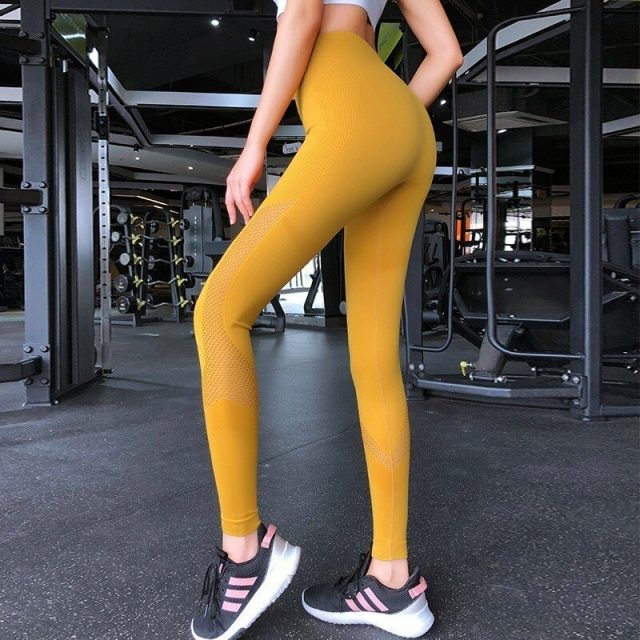 High Waist Seamless Yoga Pants Gym Leggings Sport Women Fitness Yoga Leggings Knitted Push Up Training Running Pants Sports Wear