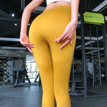 High Waist Seamless Yoga Pants Gym Leggings Sport Women Fitness Yoga Leggings Knitted Push Up Training Running Pants Sports Wear