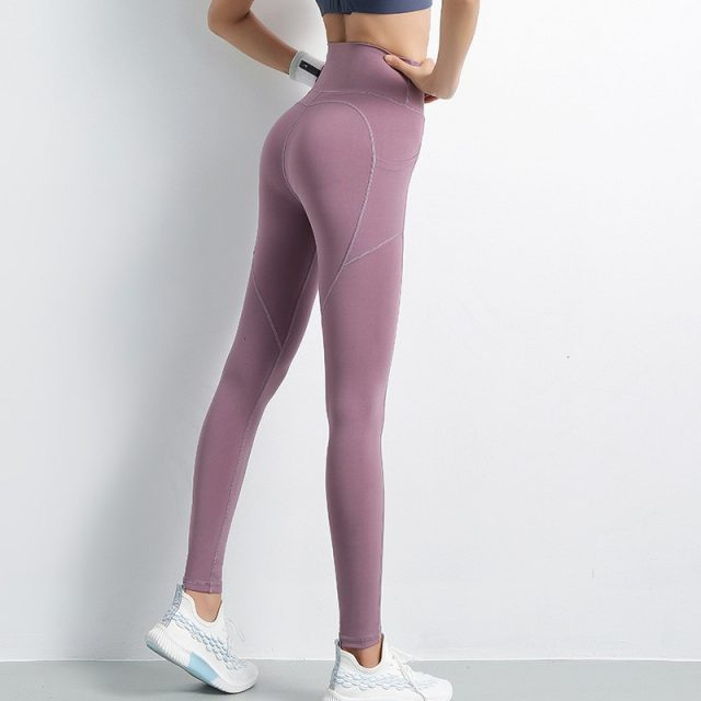 Yoga Pants With Pockets Gym Leggings Sport Women Fitness High Waist Yoga Leggings Workout Scrunch Leggings Athletic Sport Pants
