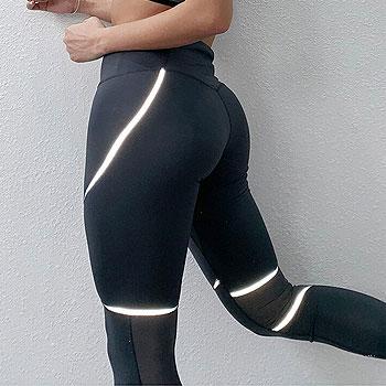 Yoga Pants Fitness Women Gym Leggings Reflective Sport Leggings Athletic Yoga Leggings Mesh Sport Pants Workout Sportswear Women