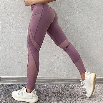 Gym Leggings Sport Women Fitness Yoga Pants With Pockets Yoga Leggings Fitness Mesh Sport Pants Women Sports Wear For Women Gym