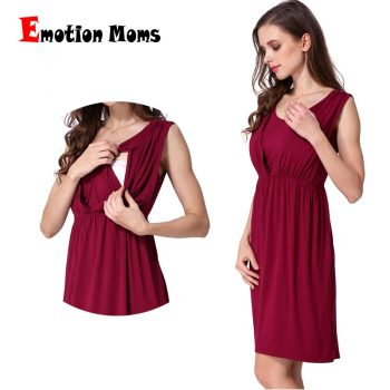 Emotion Moms V-Neck Summer maternity clothes Maternity Dresses Breastfeeding Clothes For Pregnant Women Nursing pregnant dress