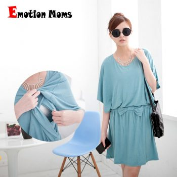 Emotion Moms Fashion Loose Maternity Lactation Clothes Maternity Nursing dresses for Pregnant Women Breastfeedfeeding clothing