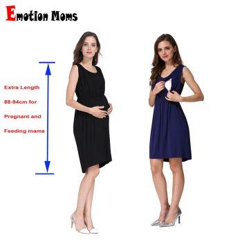 Emotion Moms Summer Pregnant Women Maternity Clothes Breastfeeding Dress Nursing Lactation Wear Cool Fabric Wholesale 2pcs/lot