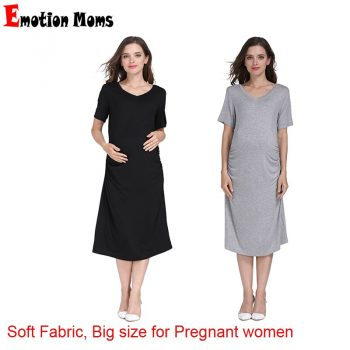 Emotion Moms Summer Pregnant Clothes Women Plus Size Pregnancy Nightgown Maternity Night Dress Wholesale 2pcs/lot