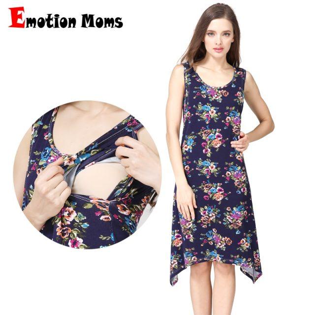 Emotion Moms Maternity Clothes Maternity Dresses Nursing pregnant dress pregnancy clothes for Pregnant Women Breastfeeding dress