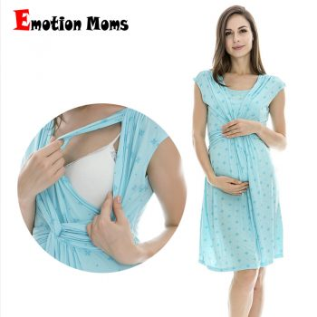 Emotion Moms maternity Clothes maternity Dress nursing Clothes nursing dress Breastfeeding Summer Dress for Pregnant Women