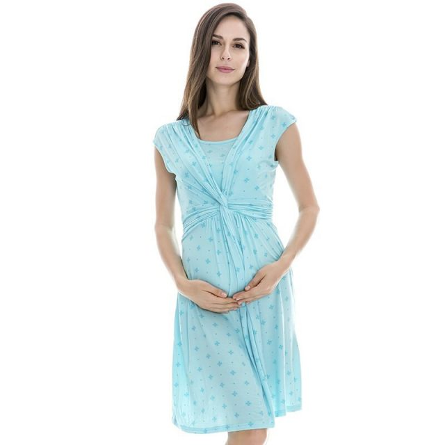 Emotion Moms maternity Clothes maternity Dress nursing Clothes nursing dress Breastfeeding Summer Dress for Pregnant Women