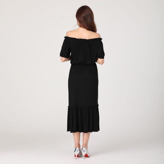 Emotion Moms Women's dress 2019 new Sexy Pregnant Dress off-shoulder Women Elegant Pregnancy Dress