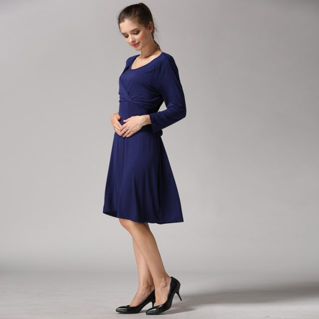 New Spring 3/4 Sleeve Pregnancy Maternity Clothes Nursing Breastfeeding Dresses Women Maternal Dress Lactancia Wear Soft Stretch