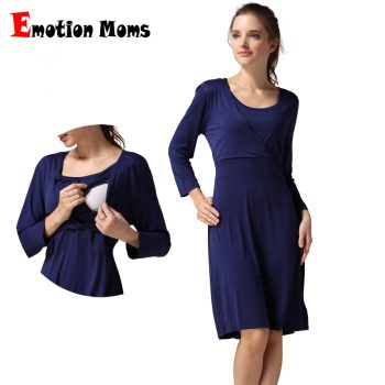 New Spring 3/4 Sleeve Pregnancy Maternity Clothes Nursing Breastfeeding Dresses Women Maternal Dress Lactancia Wear Soft Stretch