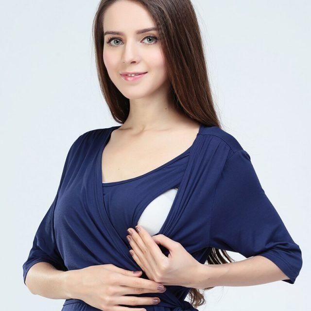 Emotion Moms Fashion Maternity Clothes Modal maternity dresses Breastfeeding clothes for Pregnant Women Nursing pregnant dress
