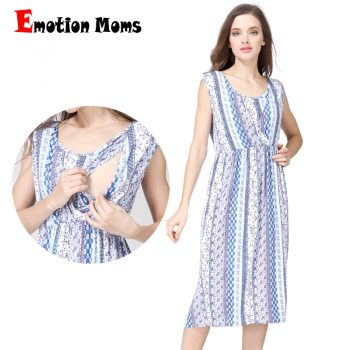Emotion Moms V-Neck Maternity clothing Breastfeeding Dresses Summer Causal nursing Dress Pregnancy Dress for Pregnant Women