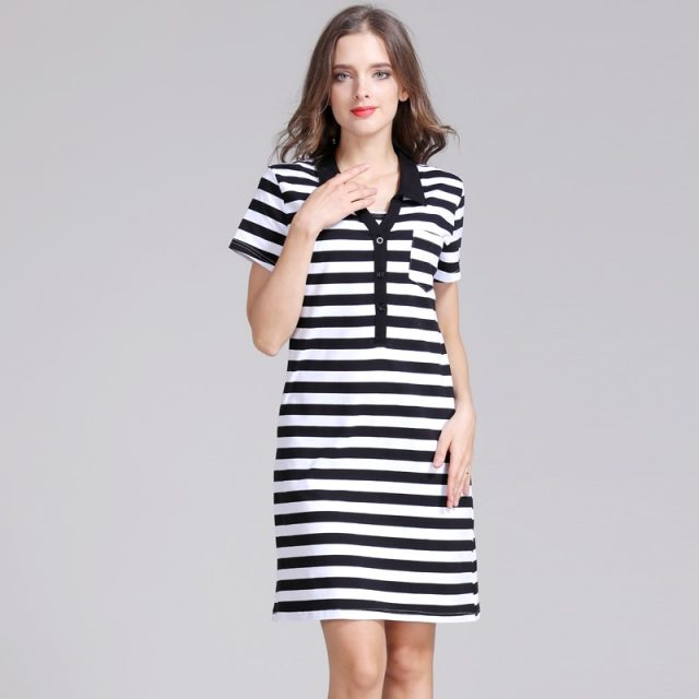 Emotion Moms Strecth Cotton Striped Maternity clothes pregnancy dresses Nursing Breastfeeding Dress Maternidad Wear