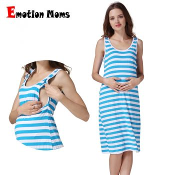 Emotion Moms Summer Maternidad Lactancia Dress Breastfeeding Nursing Dress Soft Stretch Fabric CLEARANCE PRICE