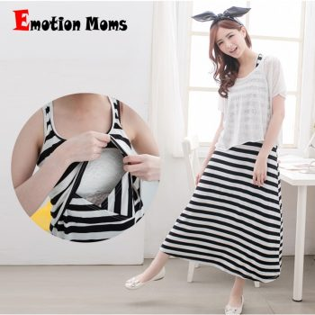 Emotion Moms Fashion Maternity Clothes Summer Dress Maternity Dress for Pregnant Women Nursing Dresses Breast Feeding Clothes