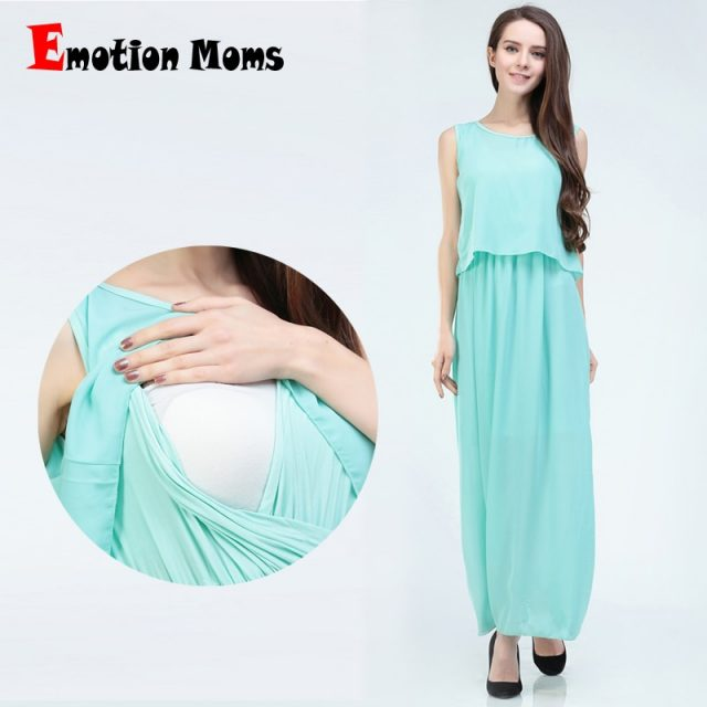 Emotion Moms Chiffon Nursing clothes summer Breastfeeding maternity dresses pregnant dress pregnancy clothes for Pregnant Women