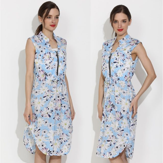 2019 Emotion Moms Summer Maternity Wear Dress Women Breastfeeding Nursing Clothes Loose Style US Size Sleeveless Cool Fabric