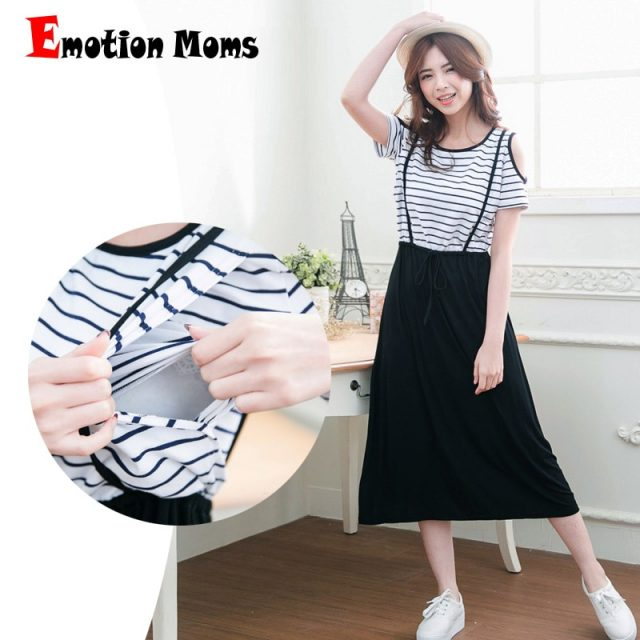 Emotion Moms maternity clothes Summer Maternity Dresses Nursing clothing pregnant dress breastfeeding Dresses For Pregnant Women