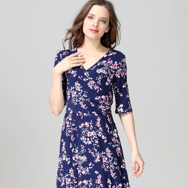 Emotion Moms Maternity Nursing Dress Party Floral Dress Maternity Clothes for Pregnancy Breastfeeding Dresses for Pregnant Women