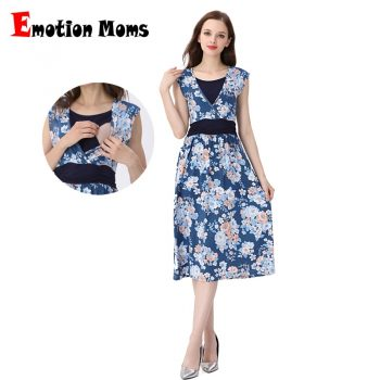 Emotion Moms Summer Maternity Clothes Nursing Pregnant Dress Breastfeeding Nursing Clothes  Maternity Dresses For Pregnant Women