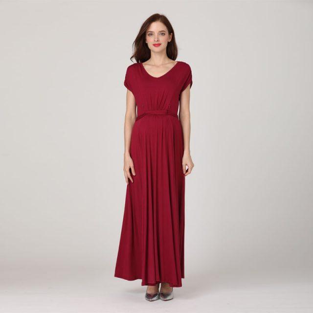 Emotion Moms Fashion long Maternity Clothes Lactancia Nursing Dresses Breastfeeding Dress Women Pregnant Evening Dress