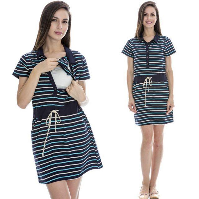 Emotion Moms maternity clothes nursing skirt summer Breastfeeding dresses Nursing clothes for Pregnant Women maternity dress