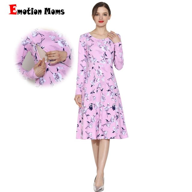 Emotion Moms Spring Autumn Long Sleeve Maternity Nursing Clothing Patchwork Breastfeeding Clothes For Pregnant Women Maternity