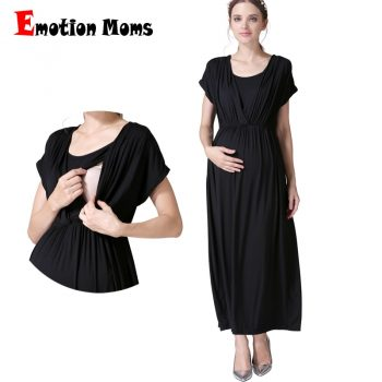 Emotion Moms Summer Maternity nursing Dress Breastfeeding Dresses for Pregnant Women Maternity Clothes V-Neck Pregnancy Dress