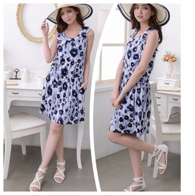 Emotion Moms Maternity Dress Summer Sleeveless Floral Breastfeeding Dresses for Pregnant Women Nursing Clothes CLEARANCE PRICE
