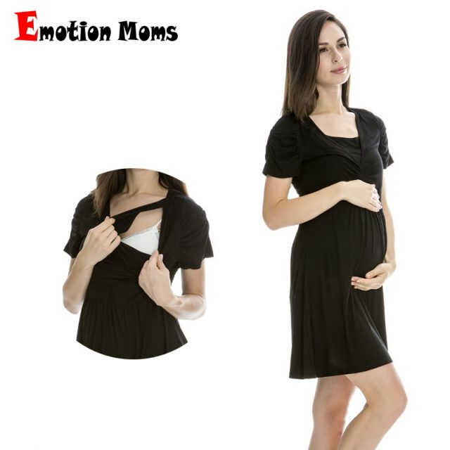 Emotion Moms Summer Modal maternity Clothes pregnancy clothes for Pregnant Women maternity dresses nursing Breastfeeding dress