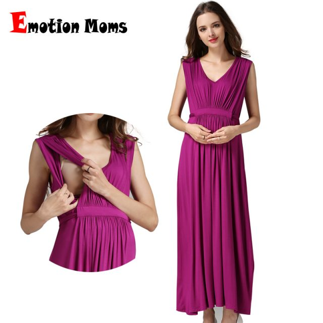 Emotion Moms Maternity Clothes pregnant Nursing Dress pregnancy clothes for Pregnant Women Long Maternity Dresses Europe size