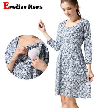 Emotion Moms Spring Maternity Nursing Dress Maternity clothes Breastfeeding dresses for Pregnant Women pregnancy Clothing