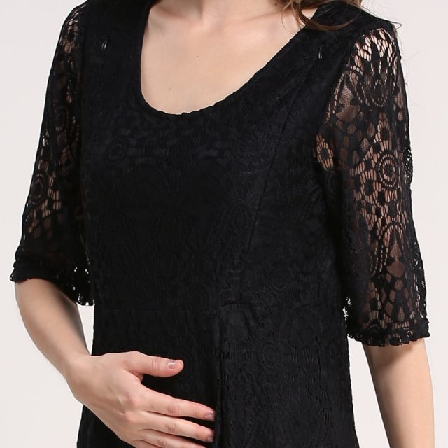 Emotion Moms New Lace maternity clothes Party Maternity Dresses Nursing Breastfeeding Dress for Pregnant Women Pregnancy dress