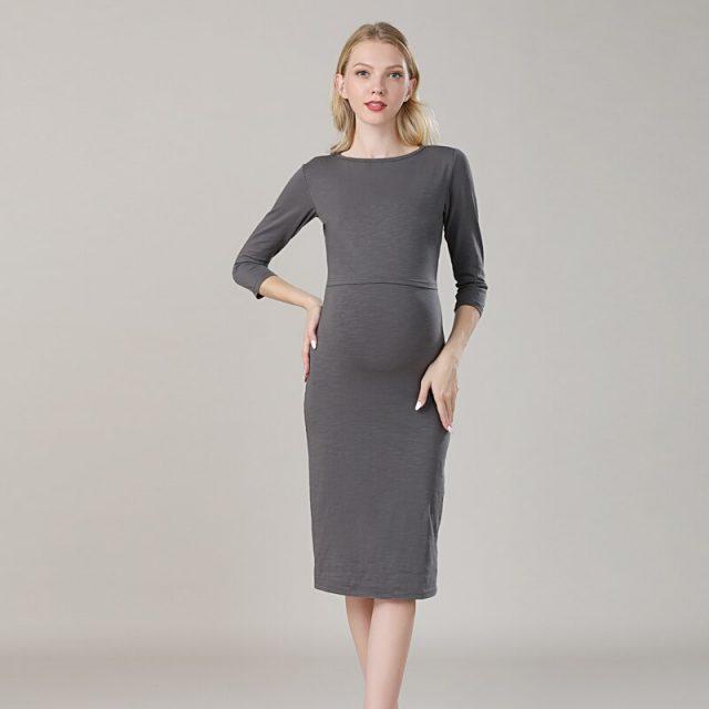 2019 New Spring Striped Maternity Breastfeeding Dresses Pregnancy clothes Women Pregnant Nursing Lactation Dress Drop Shipping