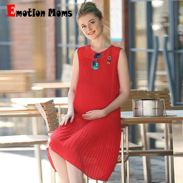 Emotion Moms Loose maternity clothes Chiffon summer Nursing pregnant dress pregnancy clothes for Pregnant Women maternity dress