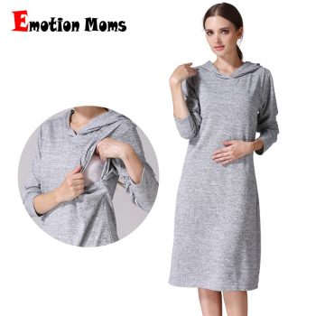 Emotion Moms Long Sleeve pregnancy Maternity Clothes Nursing Clothing Breastfeeding Dresses for Pregnant Women Maternity dress