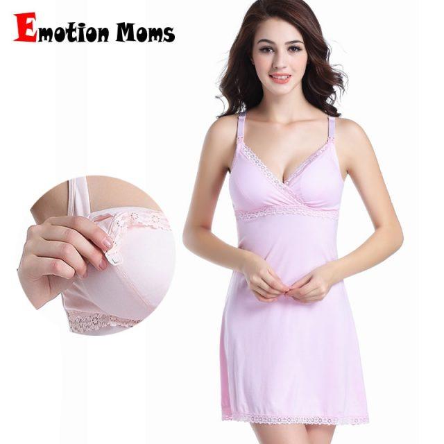 Emotion Moms Maternity Clothing Sleeveless Nursing Dresses Breastfeeding Dress for pregnant women Maternity Nightdress Summer