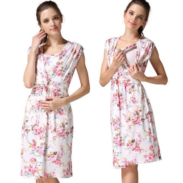Emotion Moms summer maternity clothes nursing clothing nursing dress Breastfeeding Dress for Pregnant Women maternity dresses
