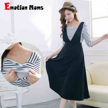 Emotion Moms Fashion Summer Maternity Clothes for Pregnant Women Casual Breastfeeding Dress Nursing Clothing Maternity Dresses