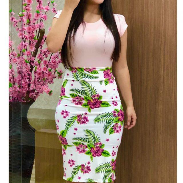 Women Summer Sundress Elegant Office Work Slim Midi Pencil Dress Print Patchwork Short Sleeve Bodycon Party Dresses Vestidos