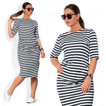 5XL 6XL Plus Size Brand 2019 Women's Clothing O Neck Zebra Striped Dress Europe Hot Style Large Big Size Casual Dress Vestidos