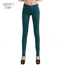 2019 Trousers Women Casual Pencil  women Pants Slim  Stretch White Jeans pantalones mujer