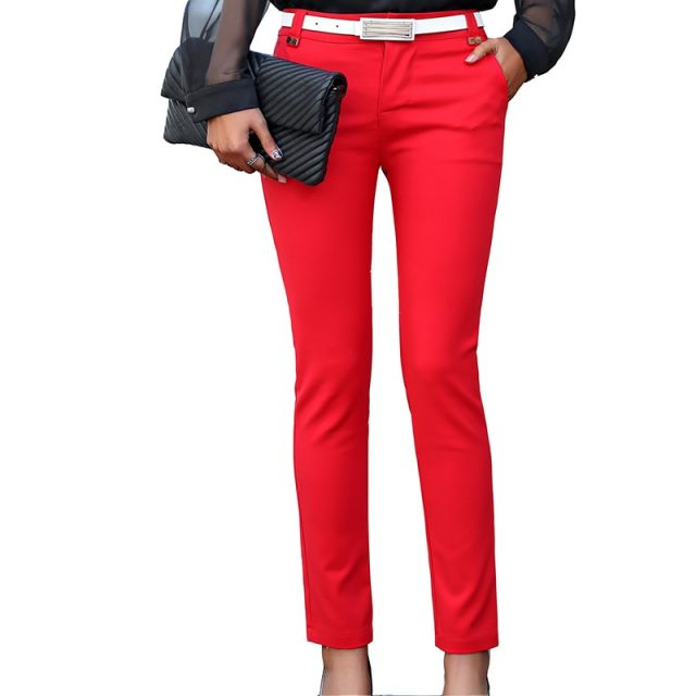 Women Pencil Pants 2019 Autumn High Waist Ladies Office Trousers Casual Female Slim Bodycon Pants Elastic Pantalones Mujer