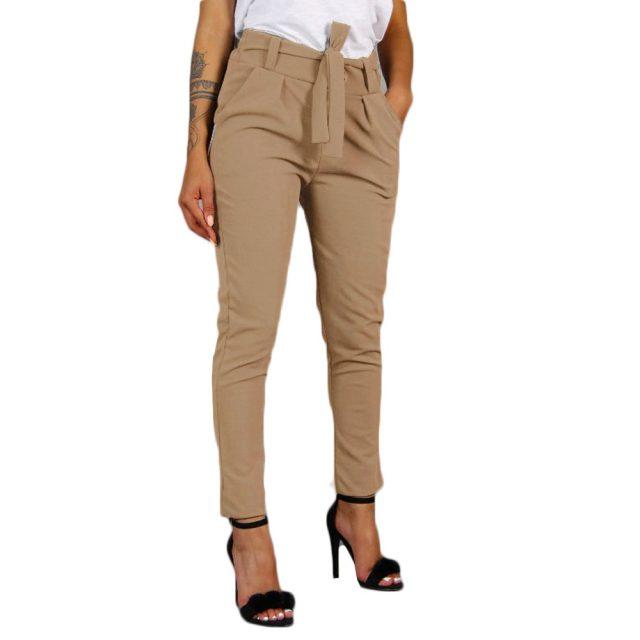 Women's Pants 2019 high waist pants For Women Ladies Elastic Waist Casual Pants Female summer trousers women plus size pant #606
