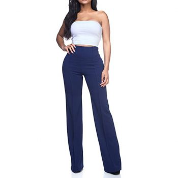 Women's Solid Loose Wide Long Trousers flare leggings fashion 2019 autumn women sexy High Waist Flowing Palazzo Pants trousers