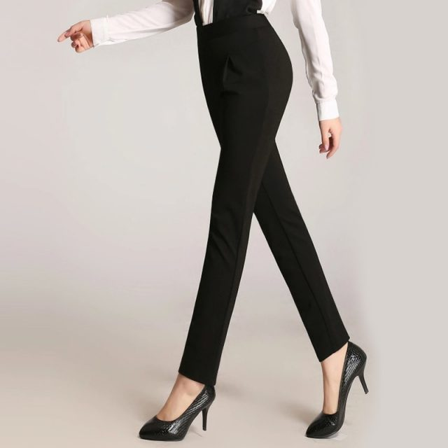 New Arrival Women Pants Plus Size High Stretch Ladies Pencil Pants Black Blue Beige Casual Trousers High Waist Skinny Long Pants