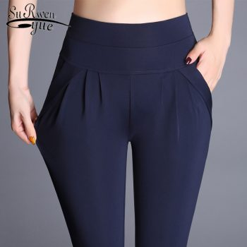 Vintage Casual High Waist Pants New Women Harem Pants Plus Size 6XL Women Loose Trousers Elastic Classic Pleated Pants 7433 50