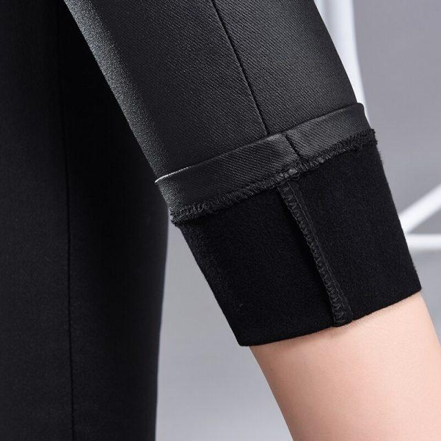 Autumn Women High Waist Stretch Leggings Slim Long PU Leather Trousers Sexy Bodycon Leggings Casual Pencil Pants Women 7367 50